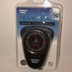 Sharper Image NWT MANUAL LUGGAGE TRAVEL SCALE